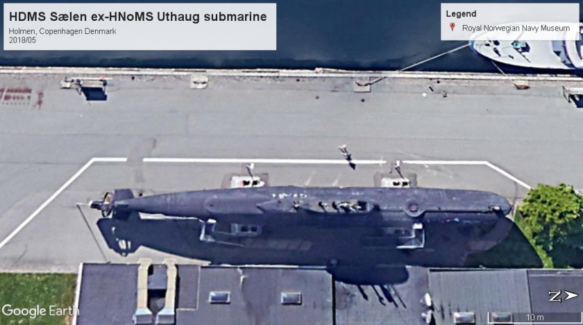 HDMS Sælen ex Uthaug sub museum Copenhagen 2018