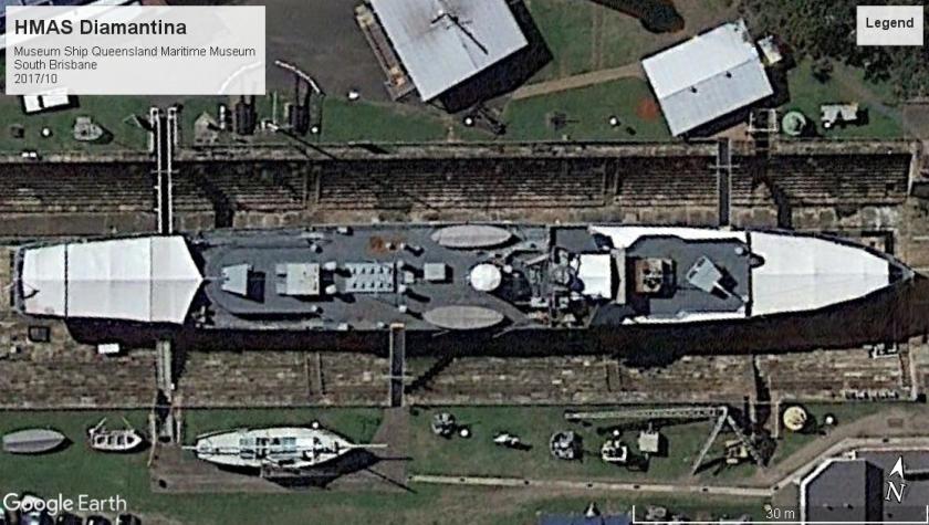 HMAS Diamantina K-377 South Brisbane AU 2017