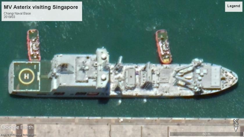 MV Asterix RCN supply 2019 Singapore