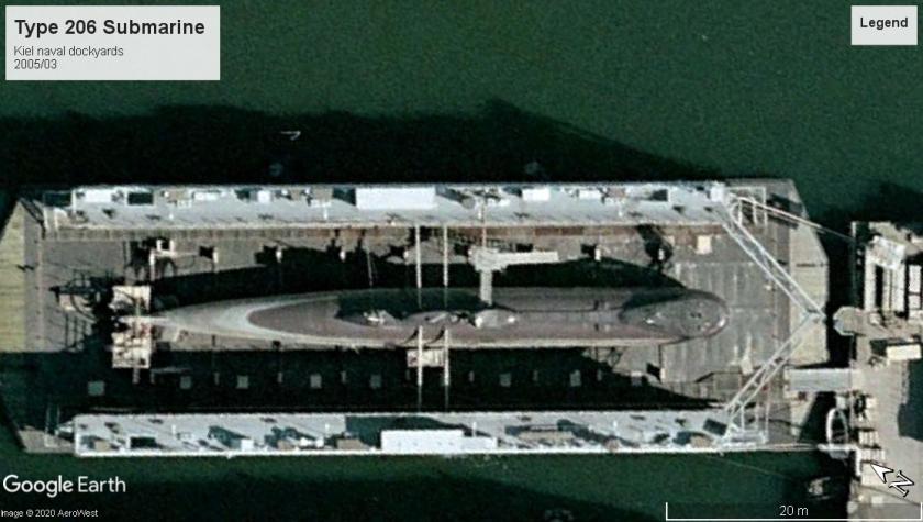 Type 206 sub Kiel 2005