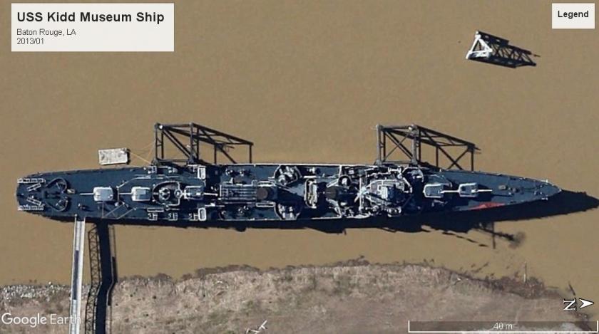 USS Kidd museum ship Baton Rouge 2013