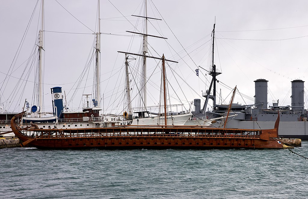 This image has an empty alt attribute; its file name is athenian_trireme_olympias_on_23_february_2019-1.jpg