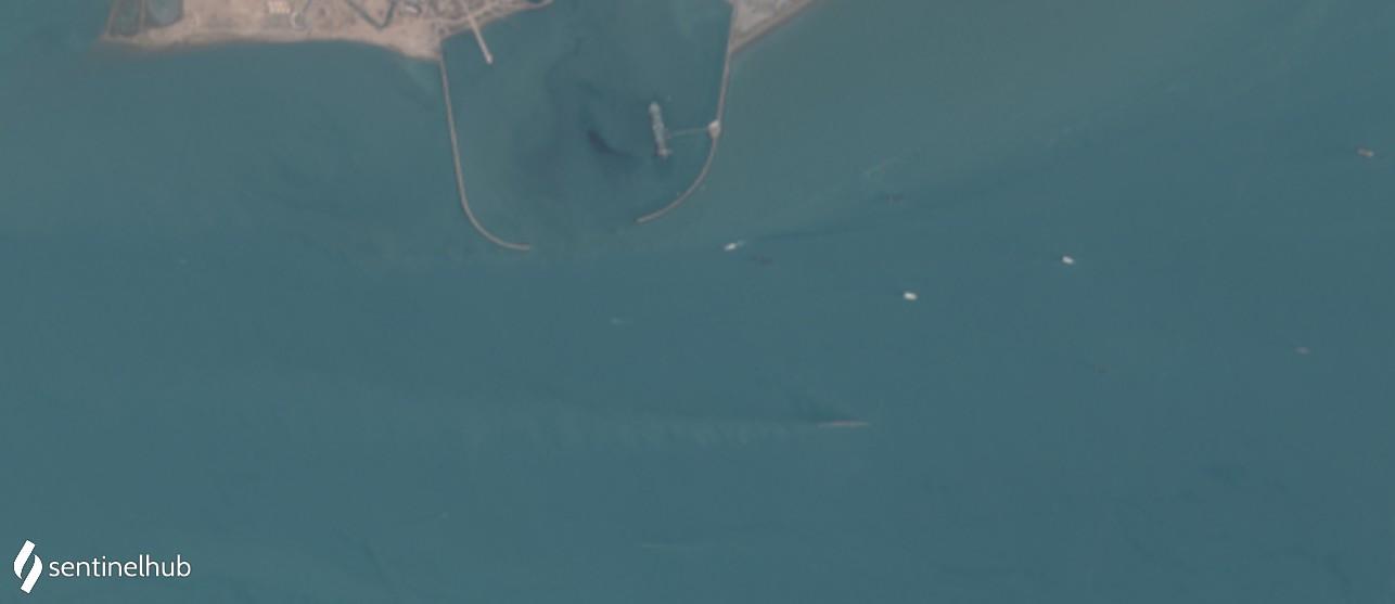 Bandar Abbas Sentinel-2 L1C image on 2020-08-06