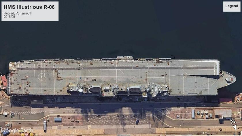 HMS Illustrious R06 Portsmouth 2016