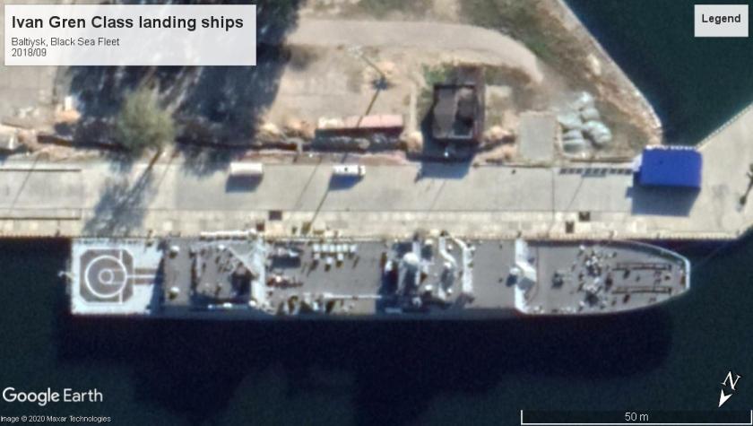Ivan Gren Class landing ships Baltiysk Black Sea 2018