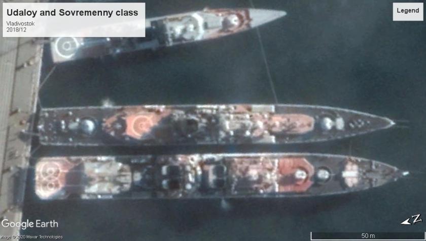 Udaloy and Sovremenny class DDs Vladivostok 2018