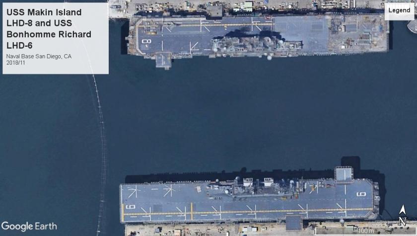 USS Makin Island LHD-8 and USS Bonhomme Richard LHD-6 San Diego 2018