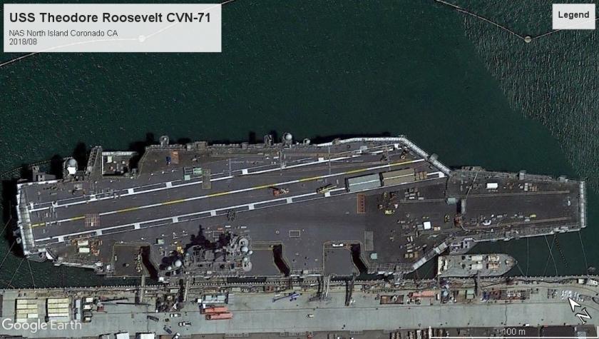 USS Theodore Roosevelt CVN-71 Coronado 2018