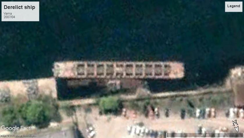 Derelict ship Varna 2007