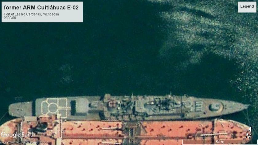 ARM Cuitláhuac E-02 Fletcher Port of Lazaro Cardenas 2009