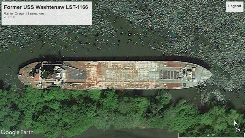 USS Washtenaw LST-1166 Rainier OR 2017