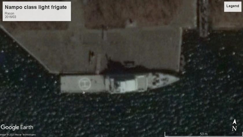 Nampo class Light frigate 2016 Rason North Korea