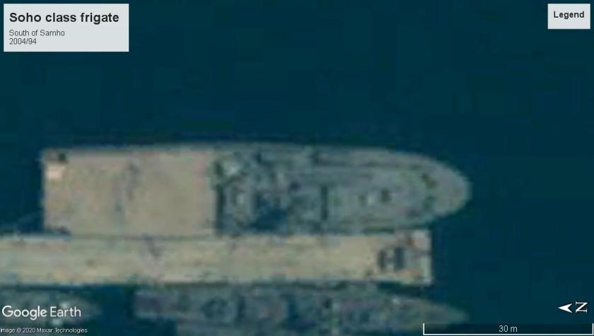 Soho class frigate Samho North Korea 2004large