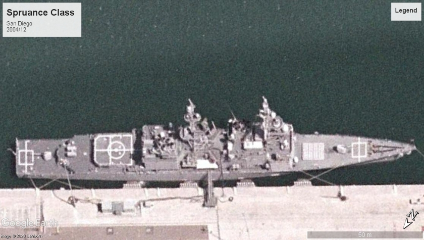 Spruance Class Destroyer San Diego 2004