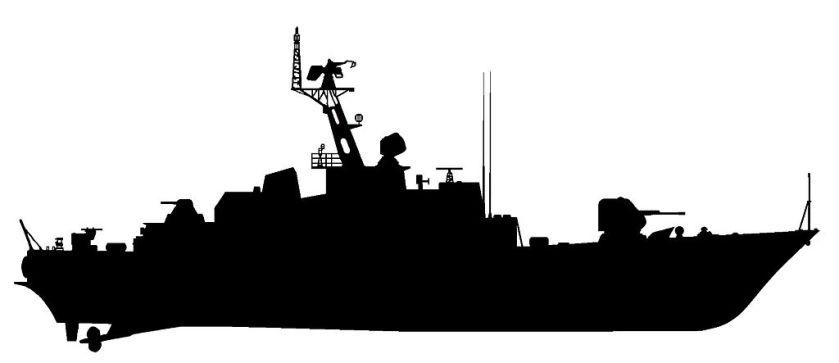 Tarantul class lines ORP Okręty-projektu-1241-sylwetka