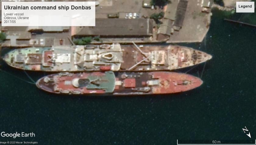 Ukrainian command ship Donbas 2019 Odessa