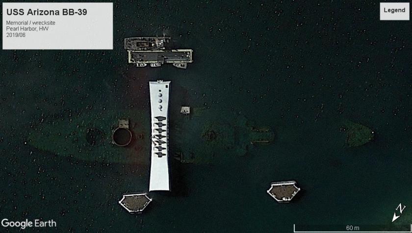 USS Arizona wreckmemorial BB-39 Pearl Harbor 2019