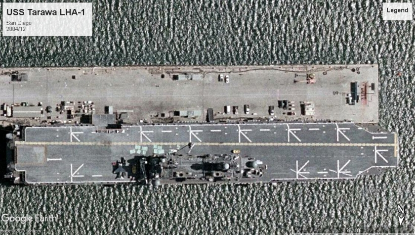 USS Tarawa LHA-1 San Diego 2004