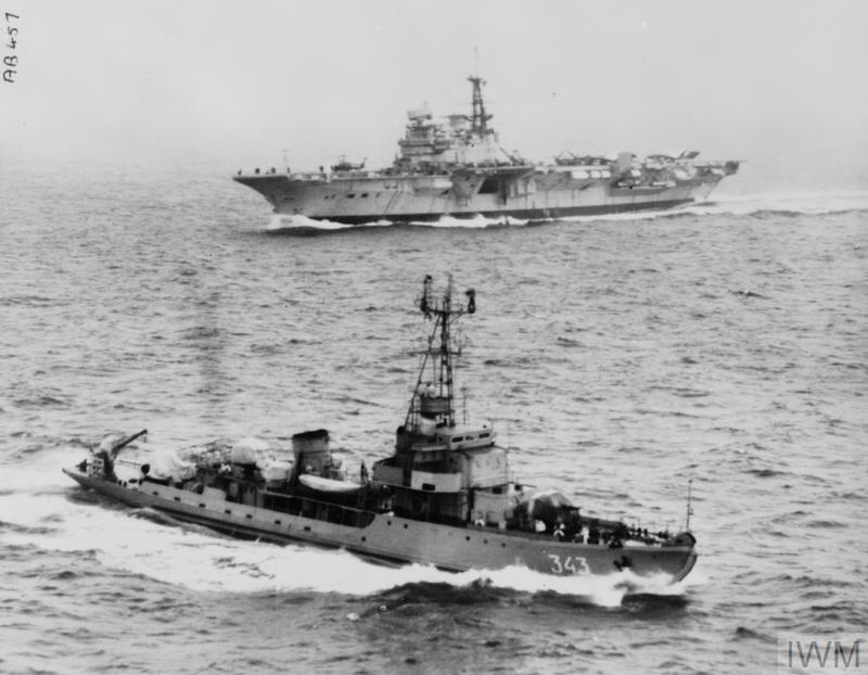 SOVIET SHIP CIRCLES HMS HERMES. OCTOBER 1966, IN SCOTTISH WATERS WHILE HMS HERMES WAS WORKING UP AFTER HER REFIT, AND DURING FLYING EXERCISES WITH HER AIRCRAFT.