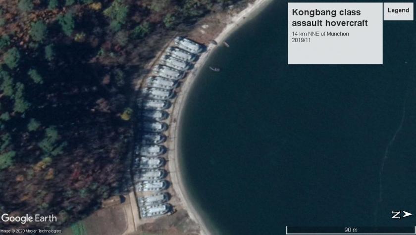 Kongbang class hovercraft Munchon2 2019