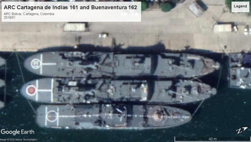 ARC luneburg class ships Cartagena 2018