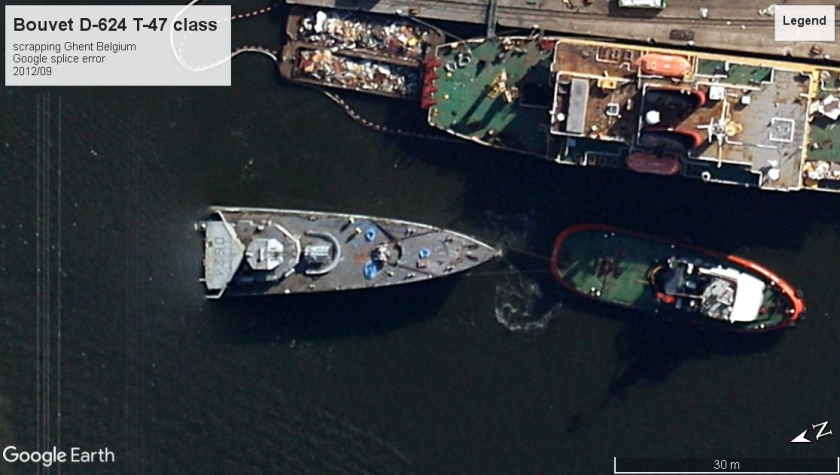 Bouvet D-624 scrapping Ghent Belgium 2012