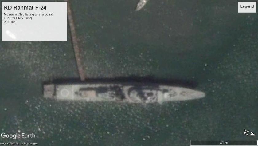 KD Rahmat F-24 museum ship decrepit Lumut 2011