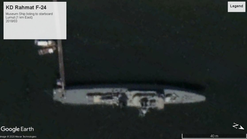 KD Rahmat F-24 museum ship decrepit Lumut 2018
