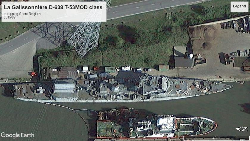La Galissonnière D-638 scrapping Ghent Belgium 2012
