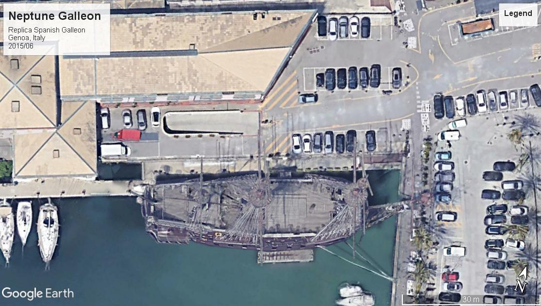 Neptune replica galleon Genoa 2015