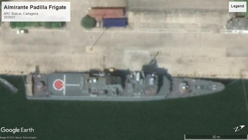 Almirante Padilla frigate Cartagena 2020