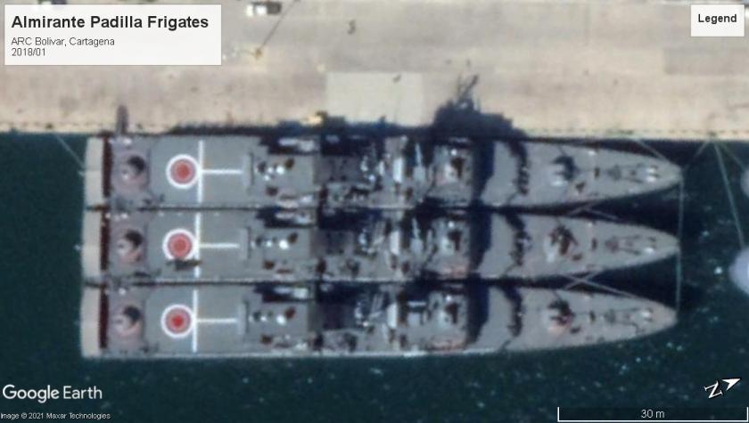 Almirante Padilla frigates Cartagena 2018