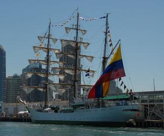 ARC Gloria sailing Puerto_de_San_Diego