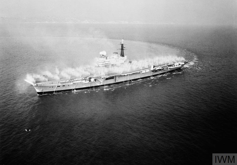 HMS Hermes prewetting 1961 IWM