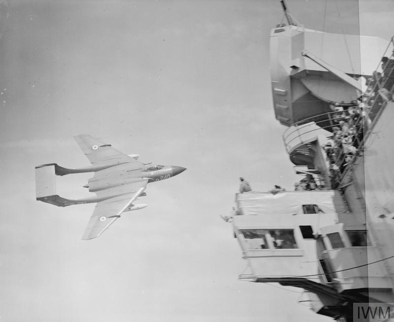 HMS Hermes Sea Vixen trial 1961 IWM