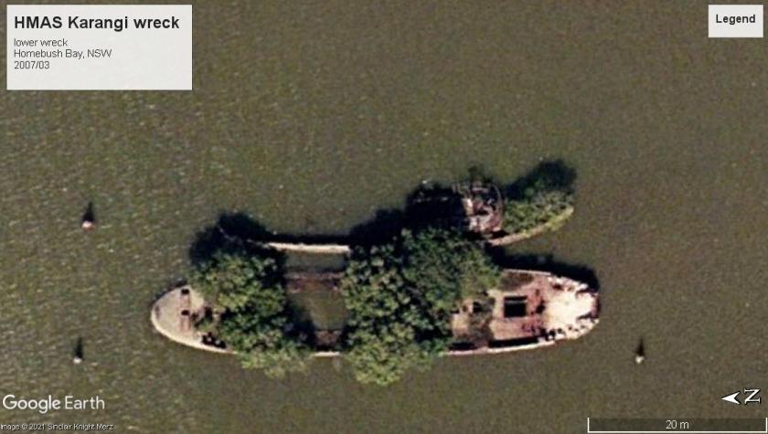 HMAS Karangi boom defence wreck NSW 2007