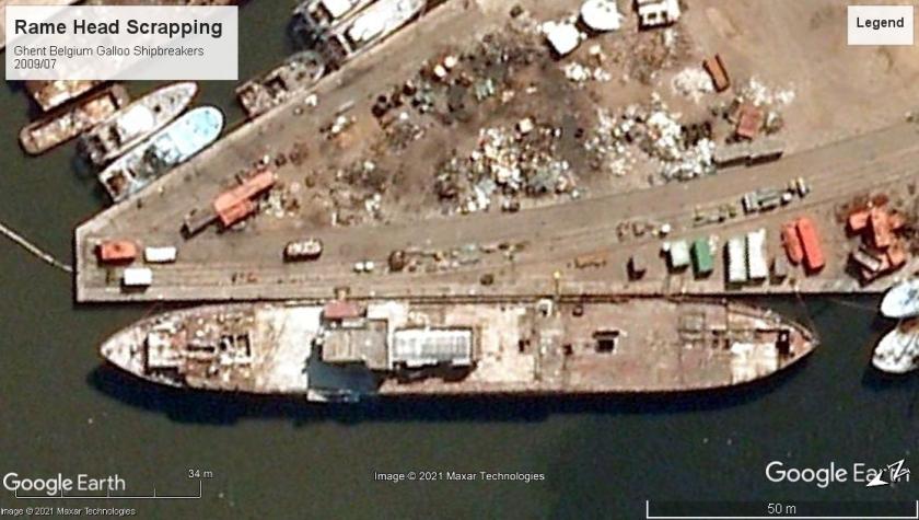HMS Rame Head scrap Ghent 2009