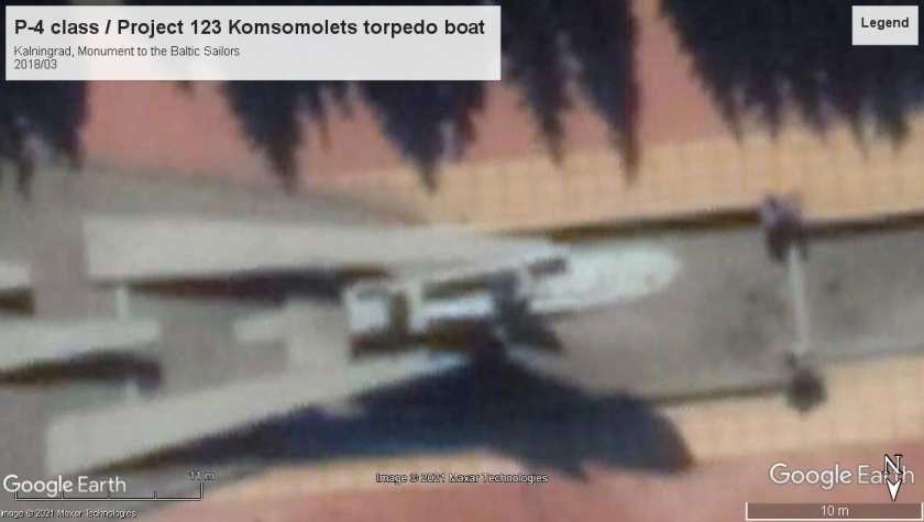 P-4 class Project 123 torpedo boat memorial Kalningrad 2018
