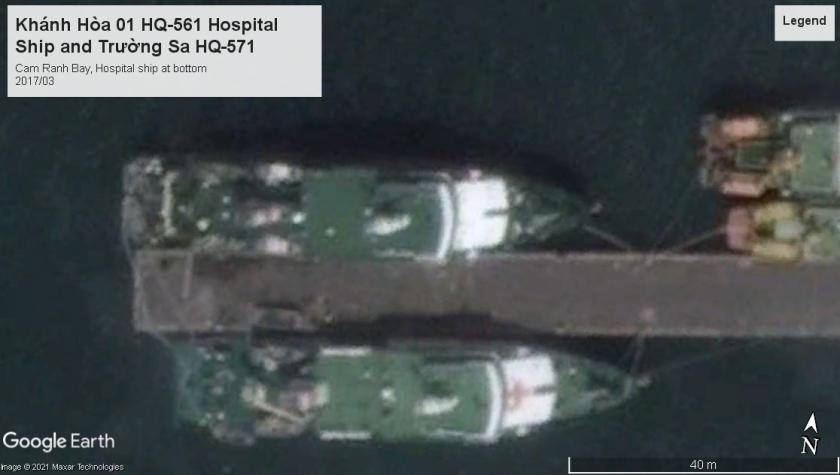 PAVN Hospital and logistics ships 2017 Cam Ranh Bay