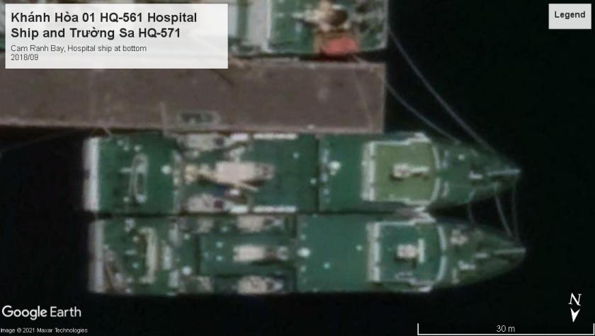 PAVN Hospital and logistics ships 2018 Cam Ranh Bay