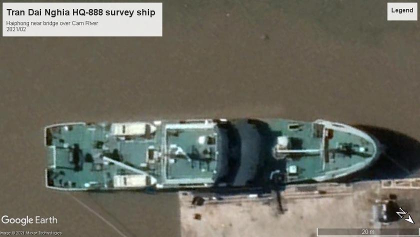 PAVN Tran Dai Nghia survey ship Haiphong 2021