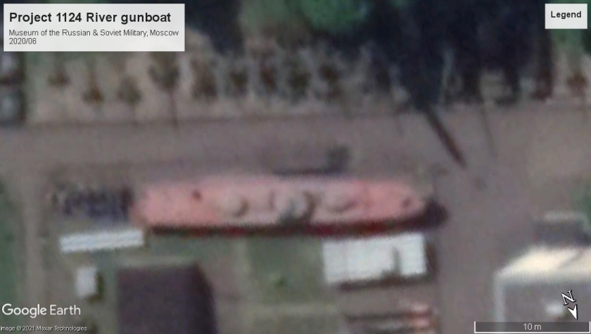 Project 1124 river gunboat Moscow museum 2020