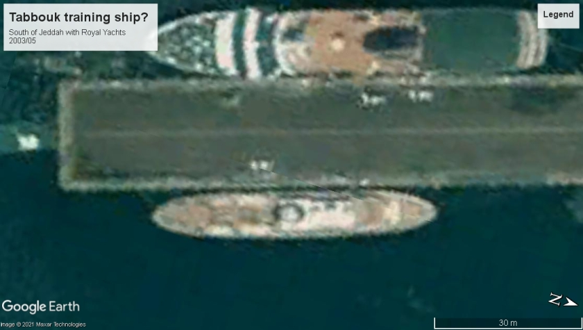 Tabouk uncertain ID South of Jeddah with Royal Yachts 2003