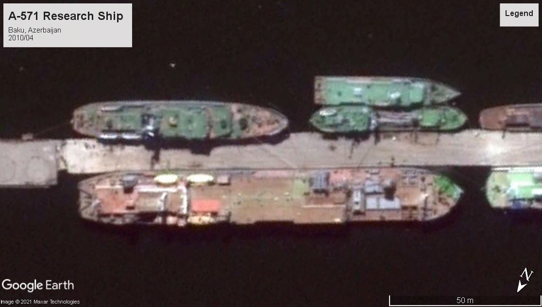 A-571 research ship azerbaijan 2010