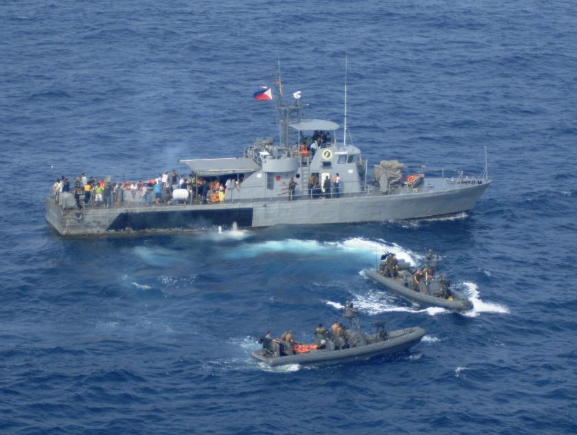 U.S., Philippine rescue survivors