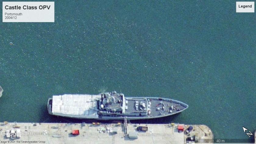 Castle class OPV Portsmouth 2004