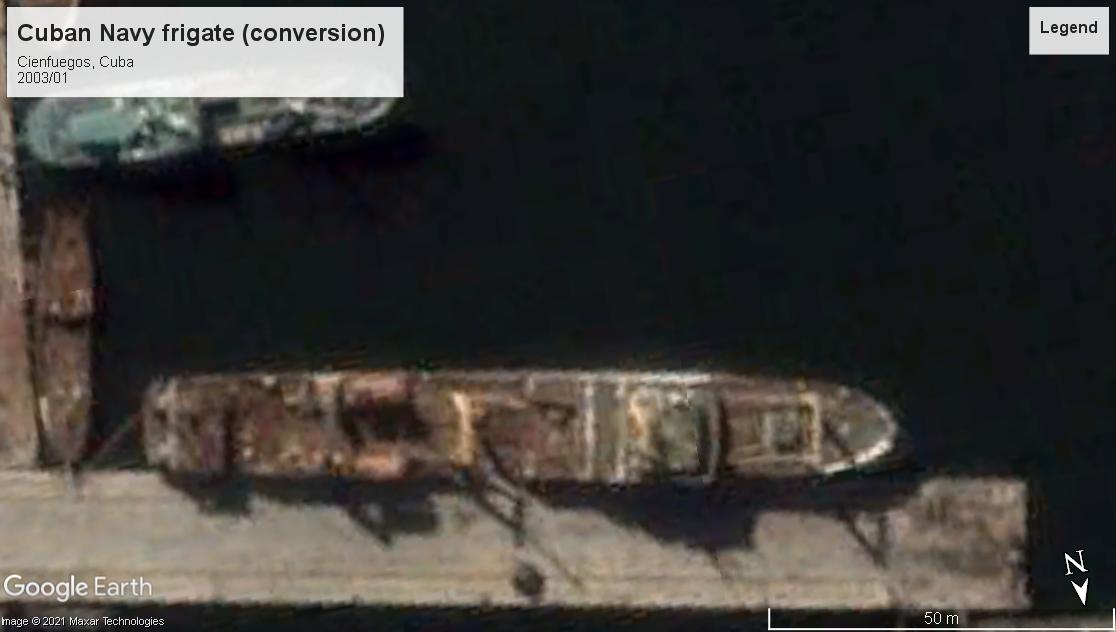 Cuban Navy frigate convert Cienguegos 2003