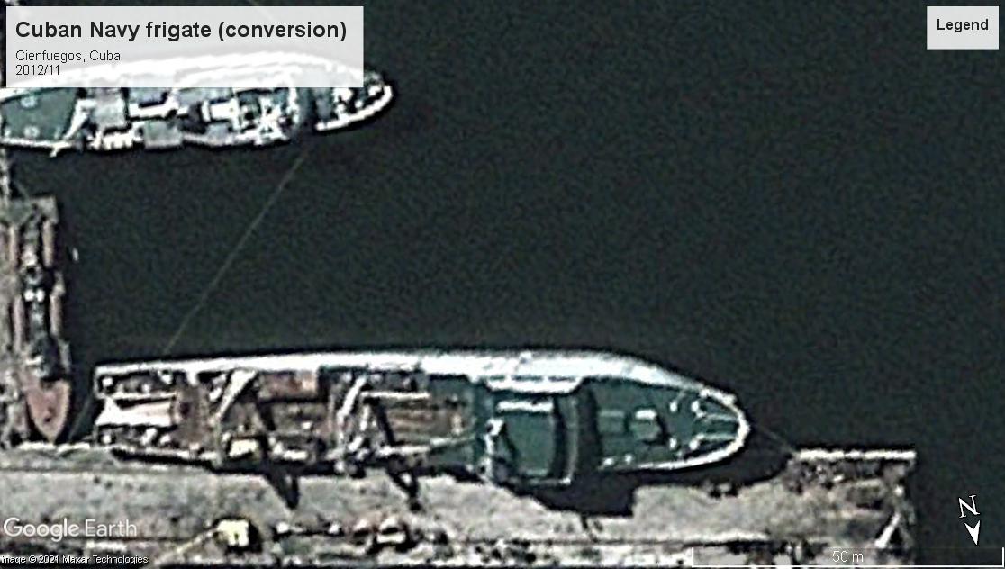 Cuban Navy frigate convert Cienguegos 2012