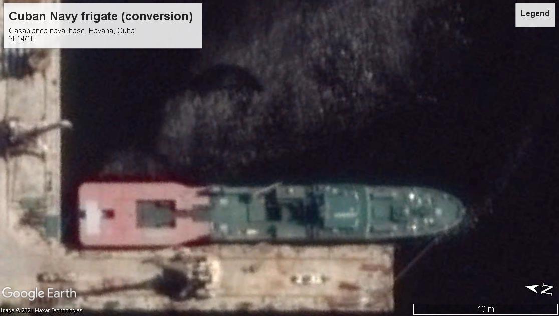 Cuban Navy frigate convert Havana 2014