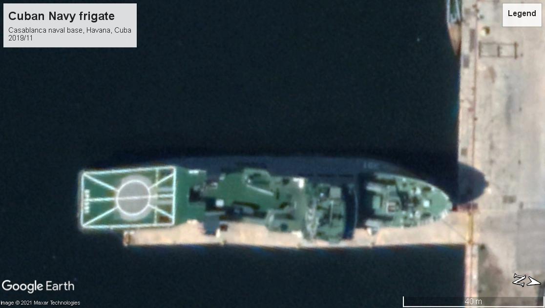 Cuban Navy frigate Havana 2019